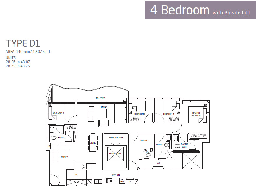 Quenns Peak Condo Floor Plans