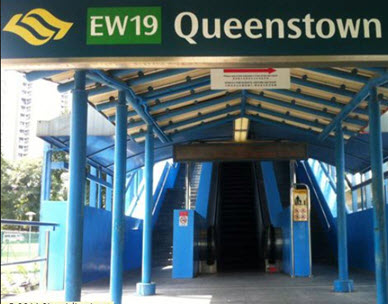 Queens Peak Queenstown MRT Station HY Realty